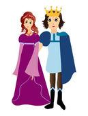 Prince and princess — Stock Vector