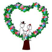 Wedding Couple -5 — Stock Vector
