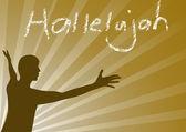 Hallelujah Jesus — Stock Vector