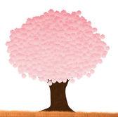 Árvore-de-rosa — Vetor de Stock