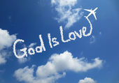 God is love — Foto Stock
