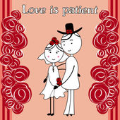 Love is patient — Stock Vector