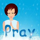 Pregando — Vettoriale Stock