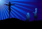 Prayer Silhouette — Cтоковый вектор