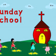 Stock Vector: Sunday School