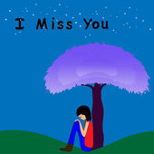 I miss you — Stock Vector