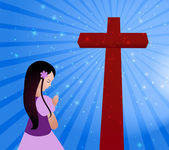 Oración — Vector de stock