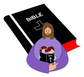 Reading bible — Stockvektor