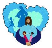 Jesus love Children — Stock Vector