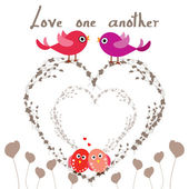 Love one another — Stock Vector