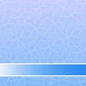 Niebieskim tle kwiatów — Wektor stockowy