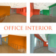Office interior set — Stock Photo
