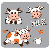 Image of a cheerful spotty cow — Stock Vector