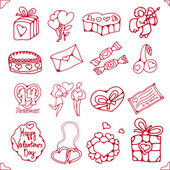 Set of icons for St. Valentine's Day — Stock Vector