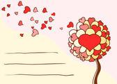 Tarjeta de felicitación para el día de san valentín — Vector de stock
