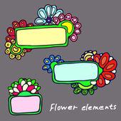 Arka plan desenleri çiçek plakalar — Stok Vektör