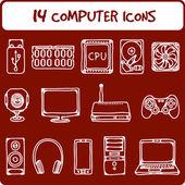 Iconos de computadora — Vector de stock