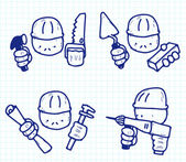 Construction professions — Stock Vector
