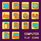 Flat computer icons — Stock Vector