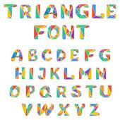 Mosaic triangular alphabet — Stock Vector