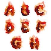 English  burning alphabet — Stock Vector