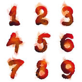 English  burning numbers — Stock Vector