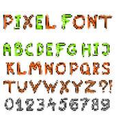 Pixel game font — Stock Vector