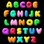 Plasticine font — Stock Vector