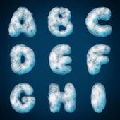 Cloud alphabet for design — Stock Vector