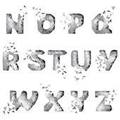Dynamic crumble font — ストックベクタ