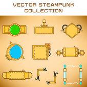 Steampunk set — Stock Vector