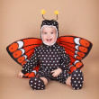 Stock Photo: Child dressed as butterfly