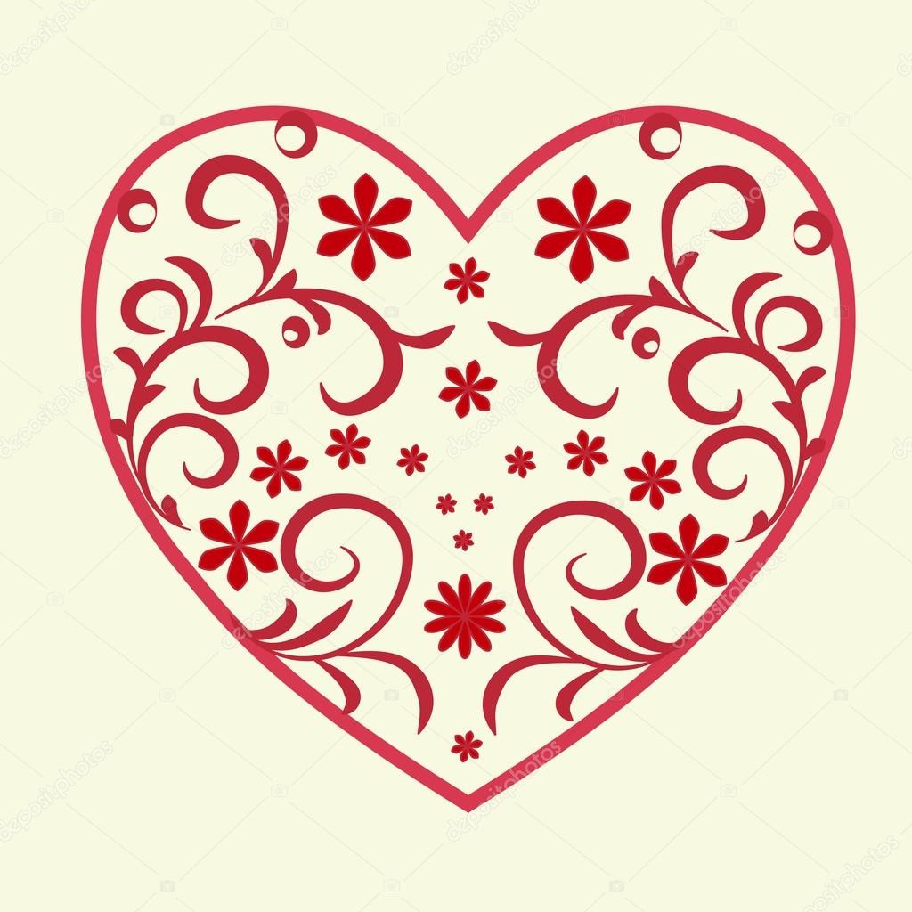 Картинки с сердечками и узорами