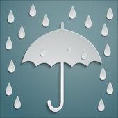RAIN UMBRELLA — Stock Vector