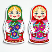 Russian doll sticker — Stock Vector