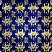 Pattern on blue — Stockvector