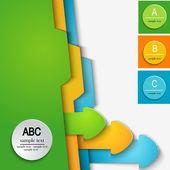 Template abc — Stock Vector