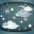 Winter sky — Stock Vector