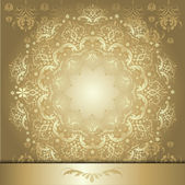 Pattern with gold ribbon — Stock Vector