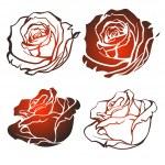 Vector rose — Stock Vector #38391803