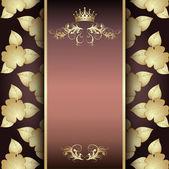 Vector floral retro royal — Stock Vector