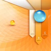 Infographics op abstracte achtergrond — Stockvector