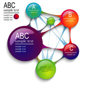 Infographics circles — Stock Vector