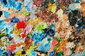 Yağlı boya paleti görüntü — Stok fotoğraf