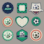 Etichette calcio — Vettoriale Stock