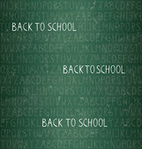 Back to school - seamless pattern — Stock Vector