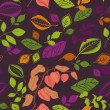 Stock Vector: Seamless autumn pattern