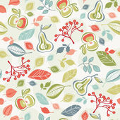 Seamless autumn pattern — Stock Vector