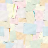 Modèle sans couture avec notes papier — Vecteur