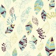 Seamless leaves pattern — Imagen vectorial
